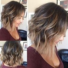 Fryzury na wiosnę - SHORT WAVY BOB >> modne kolory włosów