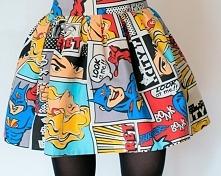 spódnica w kolorowy komiks ...