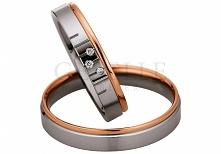 Ponadczasowe obrączki ślubne Saint Maurice - połączenie białego i różowego złota z blaskiem brylantów - GRAWER W PREZENCIE