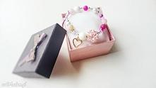 różowa bransoletka perłowa ...