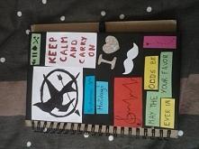 pomysł jak ozdobić zwykły notes ;)