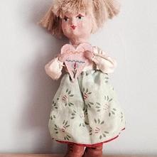 Ręcznie robiona lalka, CEPELIA,lata 60.