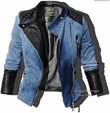 Kurtka Damska Ramoneska Skóra Jeans na Wiosnę Lato Jesień model #113 fashiona...