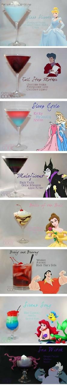 Drinki postaci Disneya. Hmm warto spróbować :)