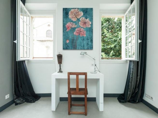 Czar turkusowego tła - nowoczesny obraz na płótnie
