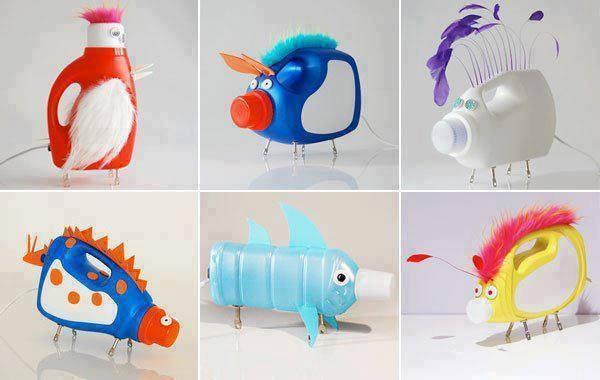 Zabawki dla dzieci z plastikowych butelek. WIĘCEJ PO