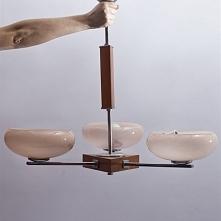 Żyrandol art deco, lata 50.