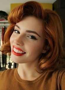 pin up curls