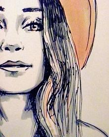 Wieczorne rysowanie, Jasmine Thomphson -zapraszam na Instagram i fb.
