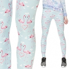 Legginsy Fullprint Flamingi...