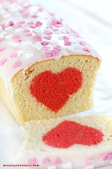 Walentynkowe ciasto z sercem :) jak zrobić krok po kroku? kliknij w zdjęcie, ...
