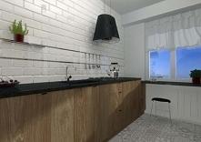 Kuchnia łącząca klasyczny i nowoczesne elementy, wykonana dla jednego z miesz...