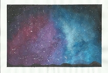 Rysunek nieba galaxy :)  wi...