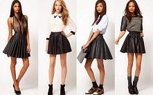 Stylizacje z rozkloszowana spodniczka :)
