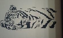 własnoręcznie namalowany tygrys :)