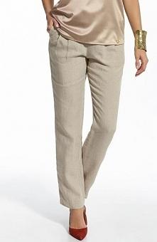Ennywear 210052 spodnie Świetne spodnie, wykonane z naturalnego lnu, podwyższony dtan