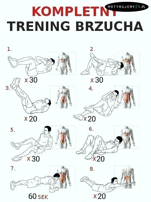 Ćwiczenia mięśni brzucha :)
