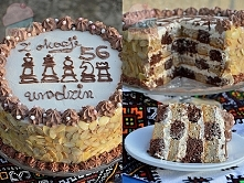 Tort cappuccino - szachy