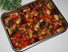 Udka kurczaka z ziemniakami