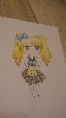 Ostatnio wzięłam się za Japonię i postanowiłam narysować taką oto chibi ^^