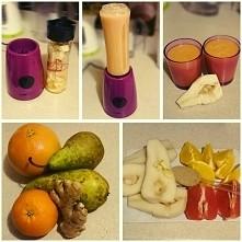 smoothie :) part 2  gruszka/pomarańcza/grejpfrut/imbir/woda/siemie MIKSER UNI...