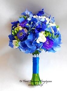 Piękny bukiet w intensywnie niebieskim kolorze :D
