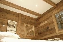 aranżacja w starym drewnie