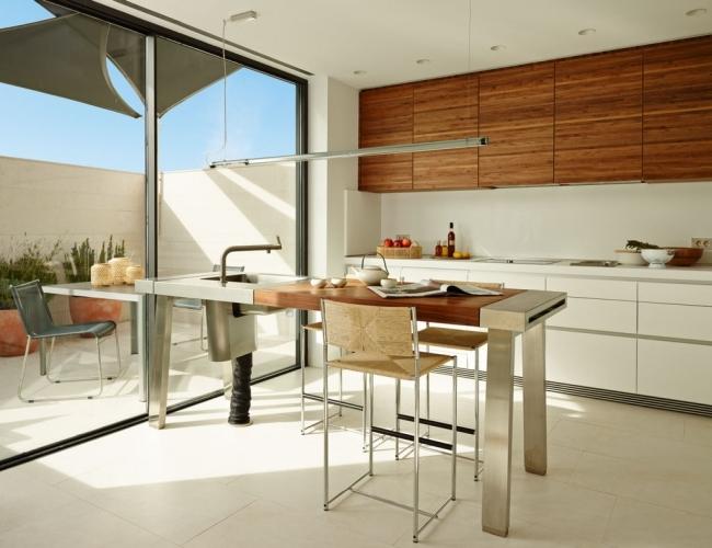 Nowoczesna Kuchnia Otwarta Kuchnia Na Dom I Zewnętrze