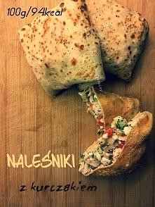 Naleśniki z kurczakiem Składniki ~ na naleśniki ✔ jajko ✔ 2 łyżki skrobi kuku...