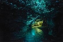 Świecąca jaskinia Waitomo Glowworm w Nowej Zelandi *.*