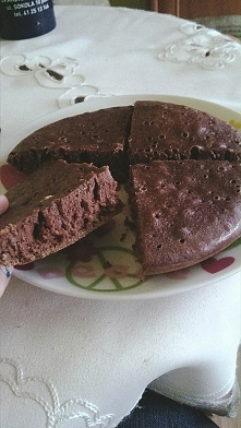 Dzień 7. Ten specjał wygląda jak Brownie, tymczasem to zwykły omlet! Jadłam go prawie godzinę, haha :D