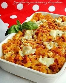 Zapiekanka pomidorowa z kurczakiem i fetą ♥♥♥ Składniki na 3-4 porcje: ok. 25...