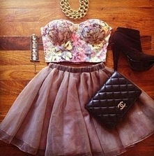 floral top & skirt