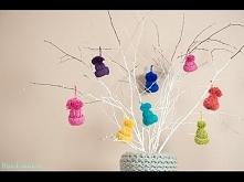 Little Yarn Hats Ornament Tutorial Super pomysł :)