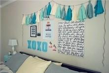 pomysł na ozdobienie ściany nad łóżkiem