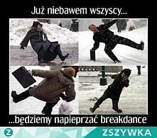 """Ktoś tej zimy """"tańczył breakdance""""? :D"""