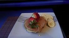 pancakes z mąki pełnoziarnistej.