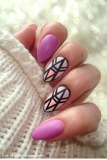 Geometryczny manicure hybrydowy (więcej po kliknięciu na zdjęcie)