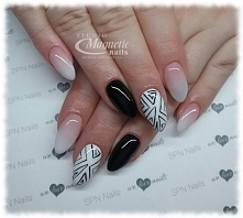 SPN My wedding dress, Black Tulip + Babyboomer   Nails by Monika, Studio Magn...