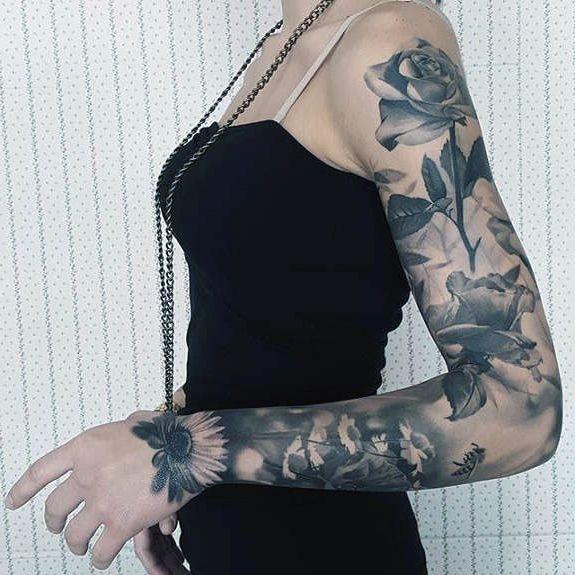 Tatuaże Damskie Kwiaty Na Ręce Na Tatuaże Zszywkapl