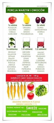 porcja warzyw lub owoców