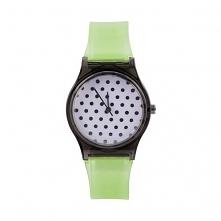Zegarek Kropeczki zielone