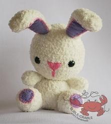 Pluszowy królik amigurumi