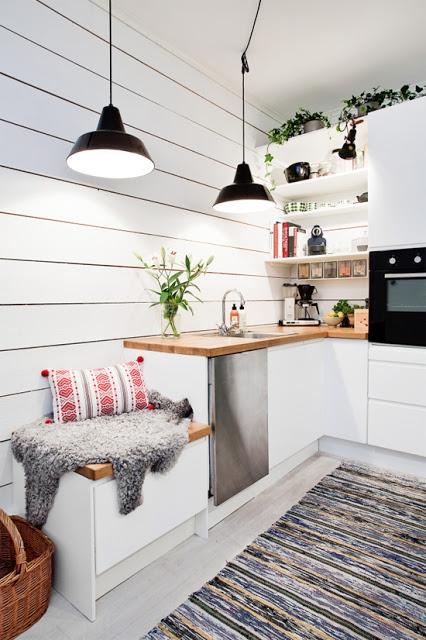 Siedzisko w kuchni na wn trza - Amenager kleine keuken ...
