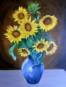 50x70cm Słoneczniki, akryl