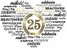 metryczka - prezent na 25 lat po ślubie