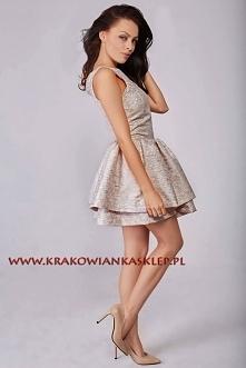 elegancka wiosenna sukienka