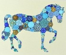 koń z guzików