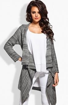 Lemoniade LS161 sweter ciemny szary Komfortowy sweter, długi rękaw, luźny krój typu oversize