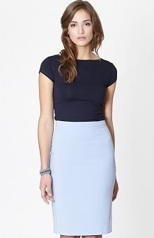 Click Fashion Seul spódnica błękitna Elegancka spódnica, ołówkowy fason, zasz...